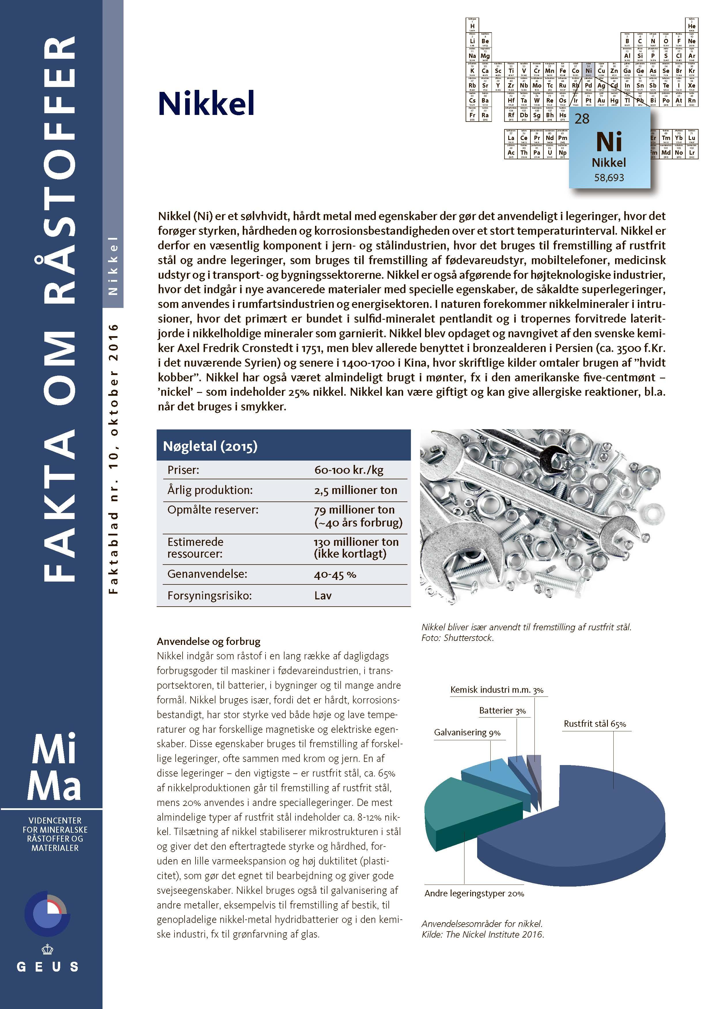 MiMa Faktablad – Nikkel