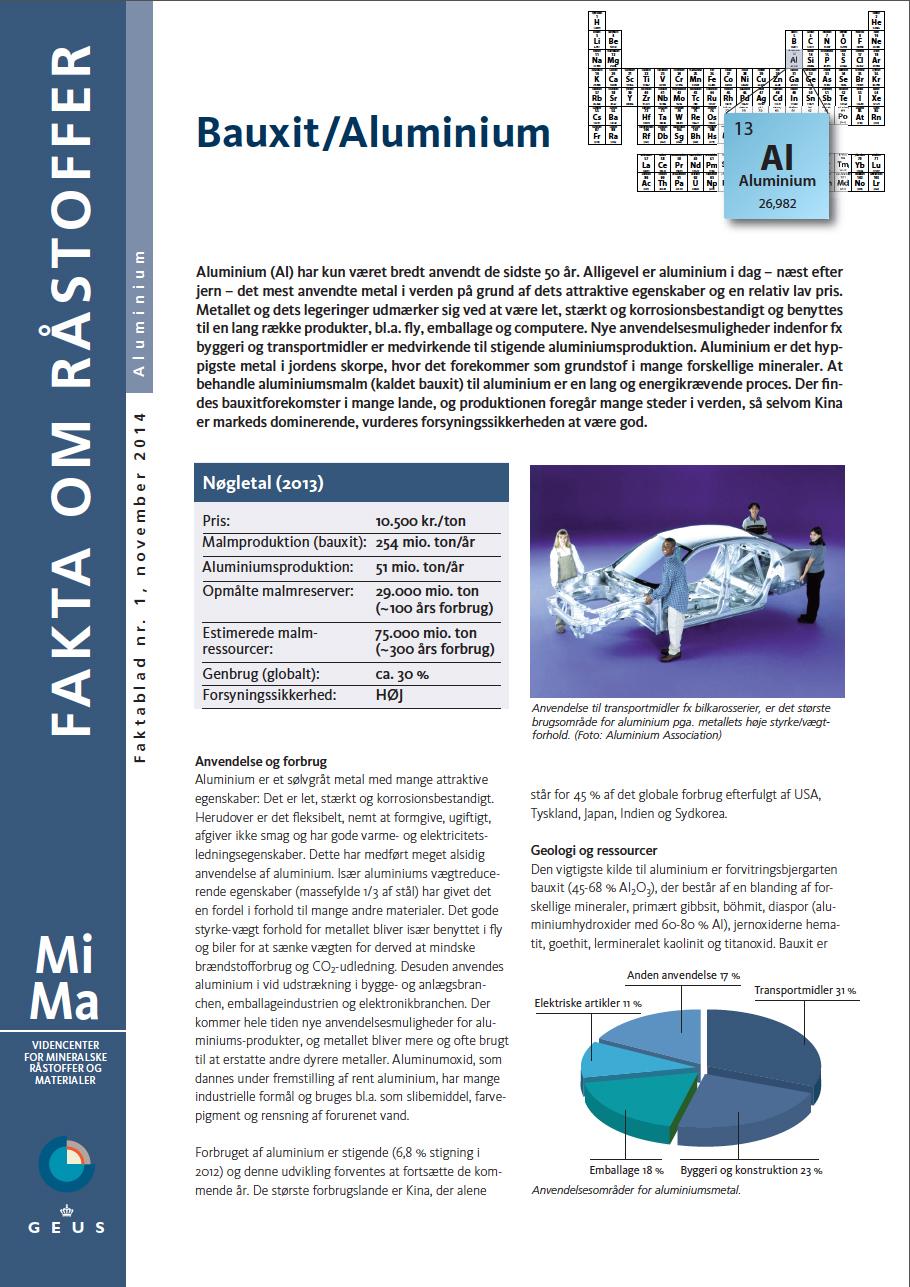 MiMa Faktablad - Fakta om råstoffet - Aluminium