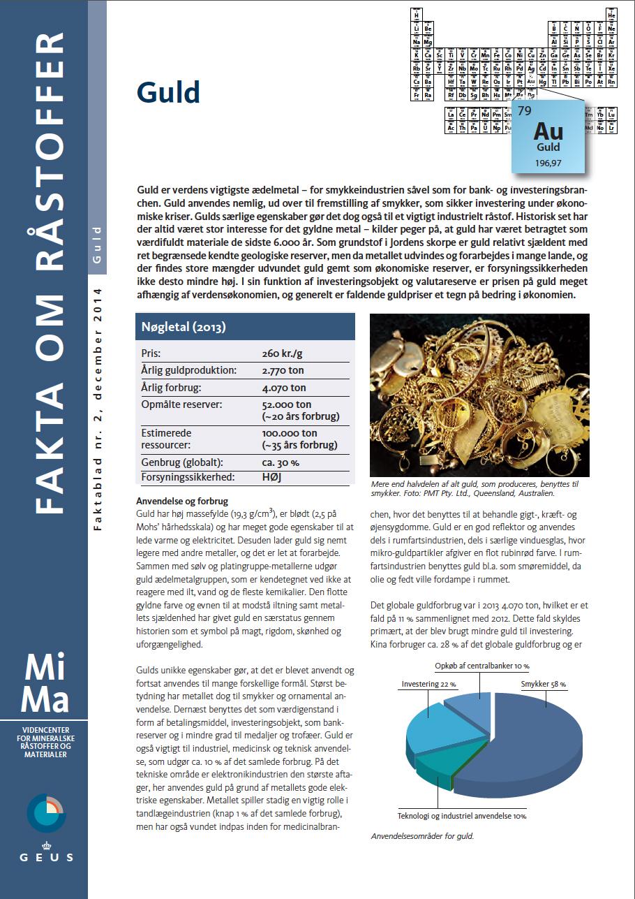 MiMa Faktablad - Fakta om råstoffet - Guld